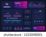 dashboard infographics. trading ...