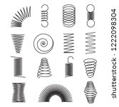 metal springs. spiral lines ... | Shutterstock .eps vector #1222098304