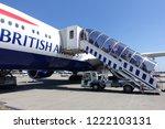 london heathrow airport  uk  ... | Shutterstock . vector #1222103131