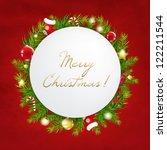 merry christmas festive card... | Shutterstock .eps vector #122211544