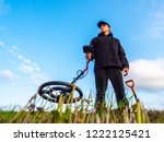 Metal Search. A Man Holds A...