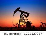 the oil pump  industrial... | Shutterstock . vector #1222127737