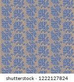 seamless vintage pattern...   Shutterstock .eps vector #1222127824