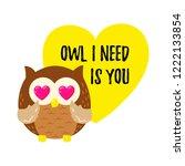 Cute Cartoon Owl In Love....