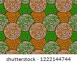 textile fashion  african print... | Shutterstock .eps vector #1222144744