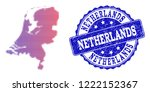 halftone dot map of netherlands ... | Shutterstock .eps vector #1222152367