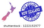 halftone dot map of new zealand ... | Shutterstock .eps vector #1222152577