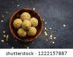 oats laddu or  ladoo   diwali... | Shutterstock . vector #1222157887