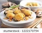 abalone dish on plate | Shutterstock . vector #1222173754