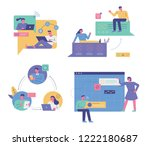 graphic design illustration of... | Shutterstock .eps vector #1222180687
