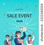 examinee's discount event | Shutterstock .eps vector #1222183324