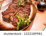 t bone steak. the t bone and...   Shutterstock . vector #1222189981