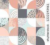 modern seamless geometric... | Shutterstock .eps vector #1222193461