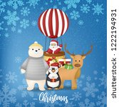 merry christmas design with... | Shutterstock .eps vector #1222194931