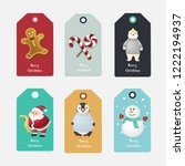 set of holiday christmas vector ... | Shutterstock .eps vector #1222194937