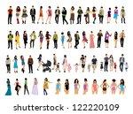people | Shutterstock .eps vector #122220109
