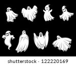 Set Of Ghosts For Halloween...