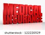 3d medical insurance text... | Shutterstock . vector #122220529