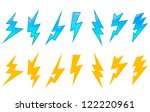 Set of lightning icons and symbols isolated on white background, such a sign template. Jpeg version also available in gallery