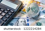 global business and economy.... | Shutterstock . vector #1222214284