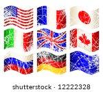 vector set of flags | Shutterstock .eps vector #12222328
