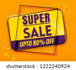 super sale banner modern orange ... | Shutterstock .eps vector #1222240924