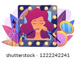 specialists providing cosmetic... | Shutterstock .eps vector #1222242241