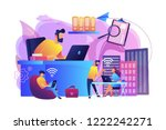 businessmen use workspace with... | Shutterstock .eps vector #1222242271