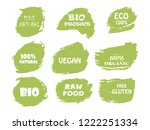 organic  bio  eco  natural... | Shutterstock .eps vector #1222251334