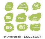 organic  bio  eco  natural... | Shutterstock .eps vector #1222251334