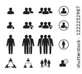 icon people  vector | Shutterstock .eps vector #1222252987