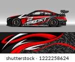 racing car decal graphic vector ... | Shutterstock .eps vector #1222258624