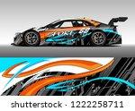 racing car decal graphic vector ...   Shutterstock .eps vector #1222258711