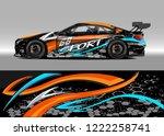 racing car decal graphic vector ...   Shutterstock .eps vector #1222258741