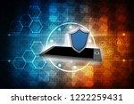 3d rendering transmitter mobile ... | Shutterstock . vector #1222259431