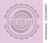 aberrant retro pink emblem | Shutterstock .eps vector #1222260697