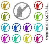 ban  prohibition  embargo ... | Shutterstock .eps vector #1222271851