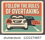 follow rules of overtaking ... | Shutterstock .eps vector #1222274857