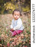 outdoor portrait of a beautiful ...   Shutterstock . vector #1222276777