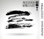 black brush stroke and... | Shutterstock .eps vector #1222279984