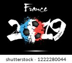 abstract number 2019 and soccer ... | Shutterstock .eps vector #1222280044