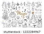 big set of christmas design... | Shutterstock .eps vector #1222284967