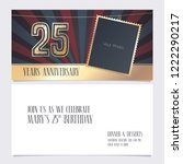 25 years anniversary invitation ... | Shutterstock .eps vector #1222290217