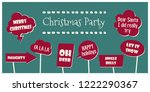 photo booth props set vector... | Shutterstock .eps vector #1222290367