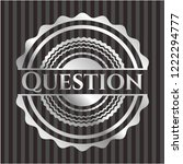 question silver shiny badge | Shutterstock .eps vector #1222294777