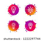 light lamp icons. circles lamp... | Shutterstock .eps vector #1222297744