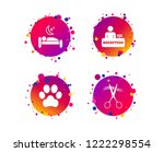 hotel services icons. with pets ... | Shutterstock .eps vector #1222298554