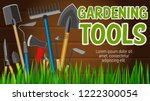 gardening tools banner with... | Shutterstock .eps vector #1222300054