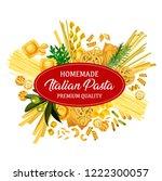 italian pasta product  vector...   Shutterstock .eps vector #1222300057