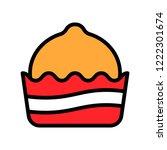 editable outline icon of sweet  ...   Shutterstock .eps vector #1222301674